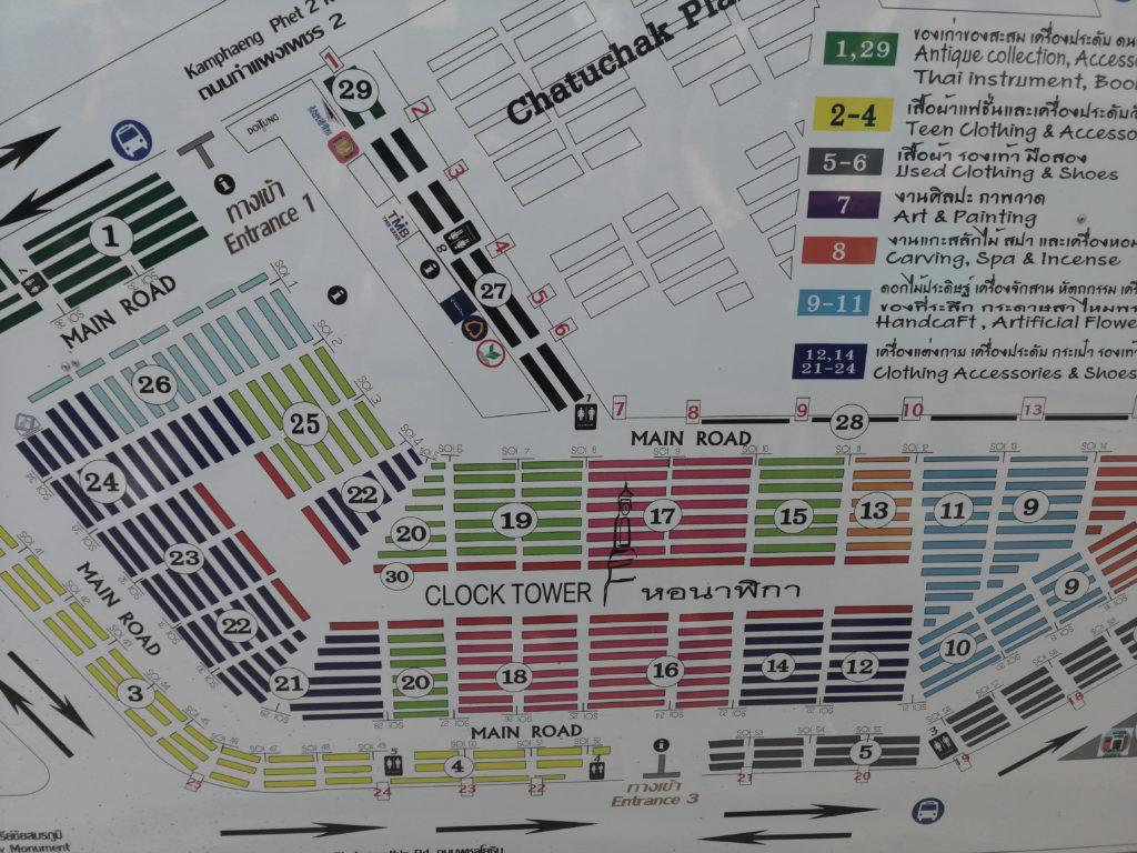 Plan du marché
