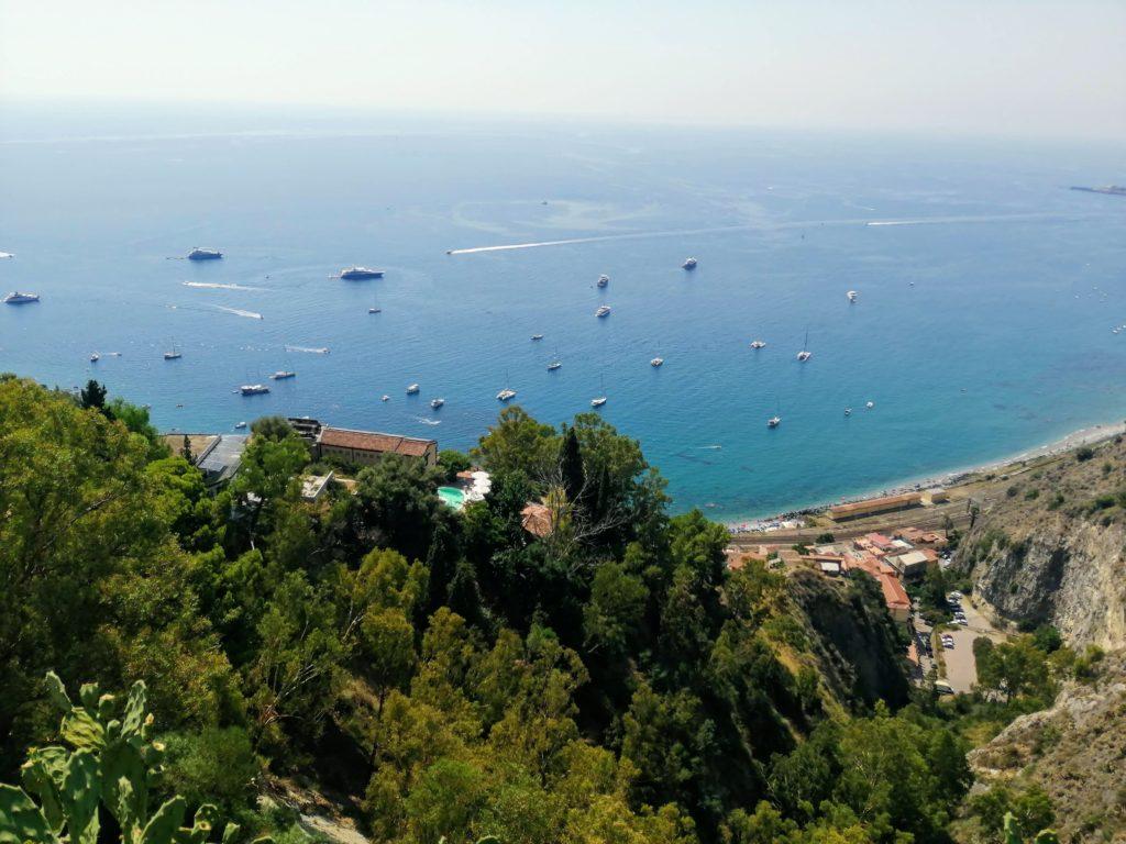 La vue depuis Taormina