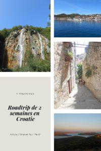 Itinéraire 2 semaines en Croatie