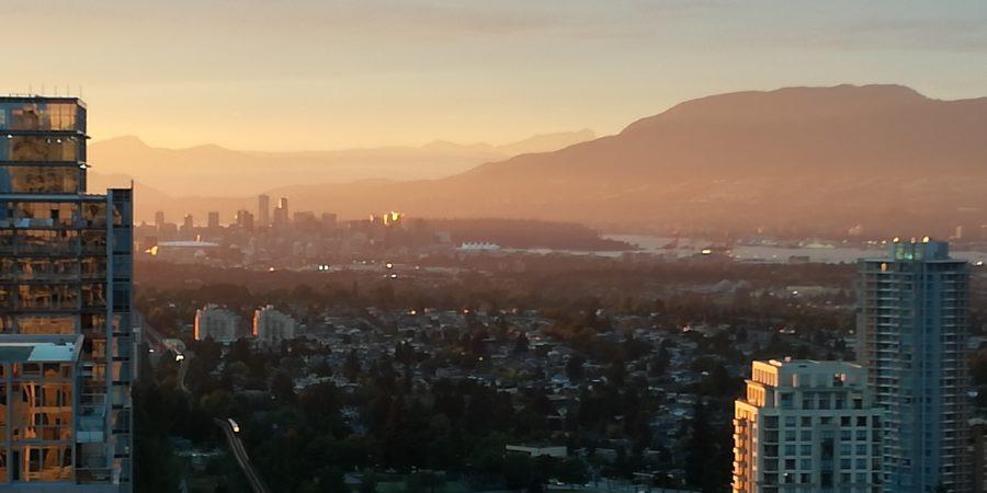 Sunset sur Vancouver