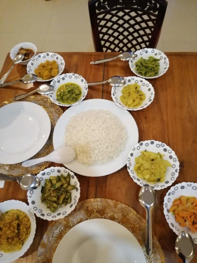 Diner préparé par un hôte