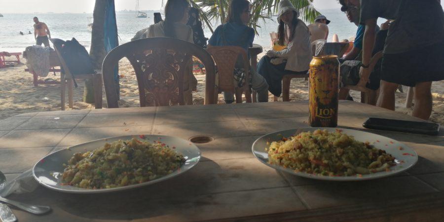 Sea Food Fired Rice et une bière :)