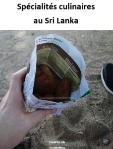 Spécialités culinaires au Sri Lanka