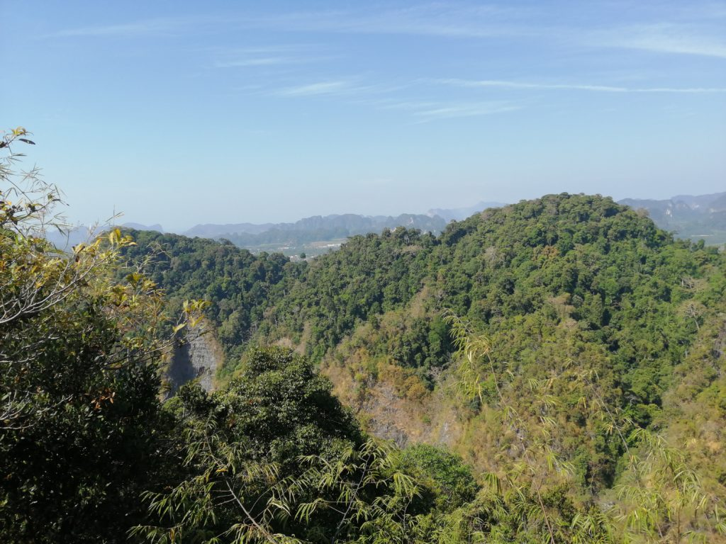 Vue depuis le Tiger Temple à Krabi