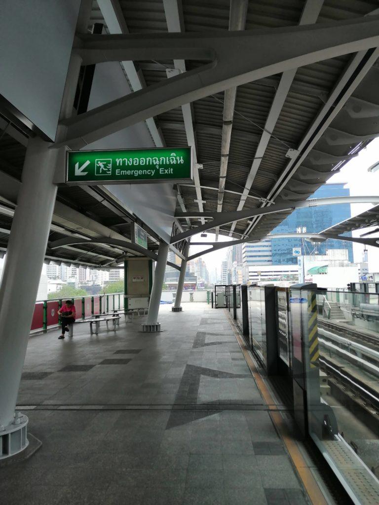 Quai de BTS à Bangkok