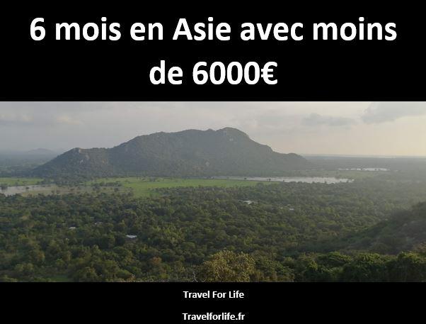 6 mois en Asie avec moins de 6000€