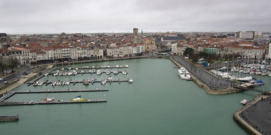 Vue depuis l'une des tours du port de La Rochelle