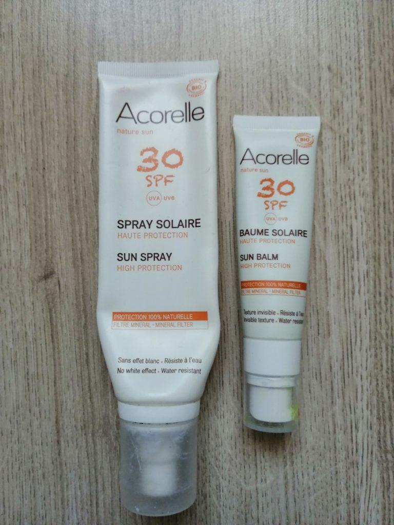 Crème solaire Acorelle