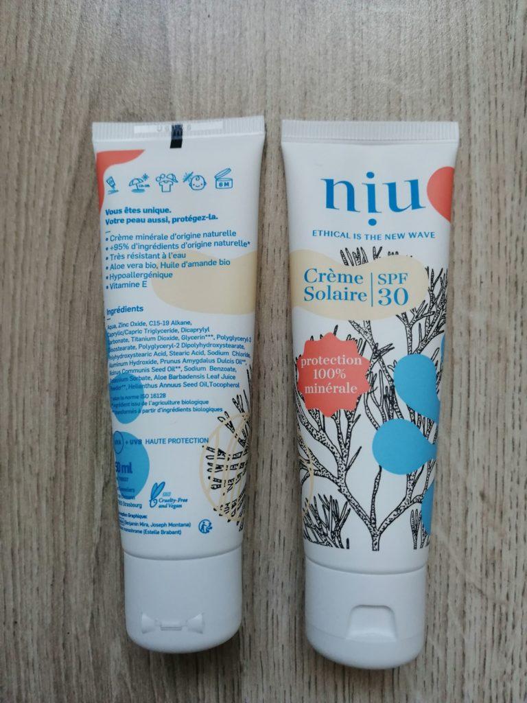 Crème solaire Niu