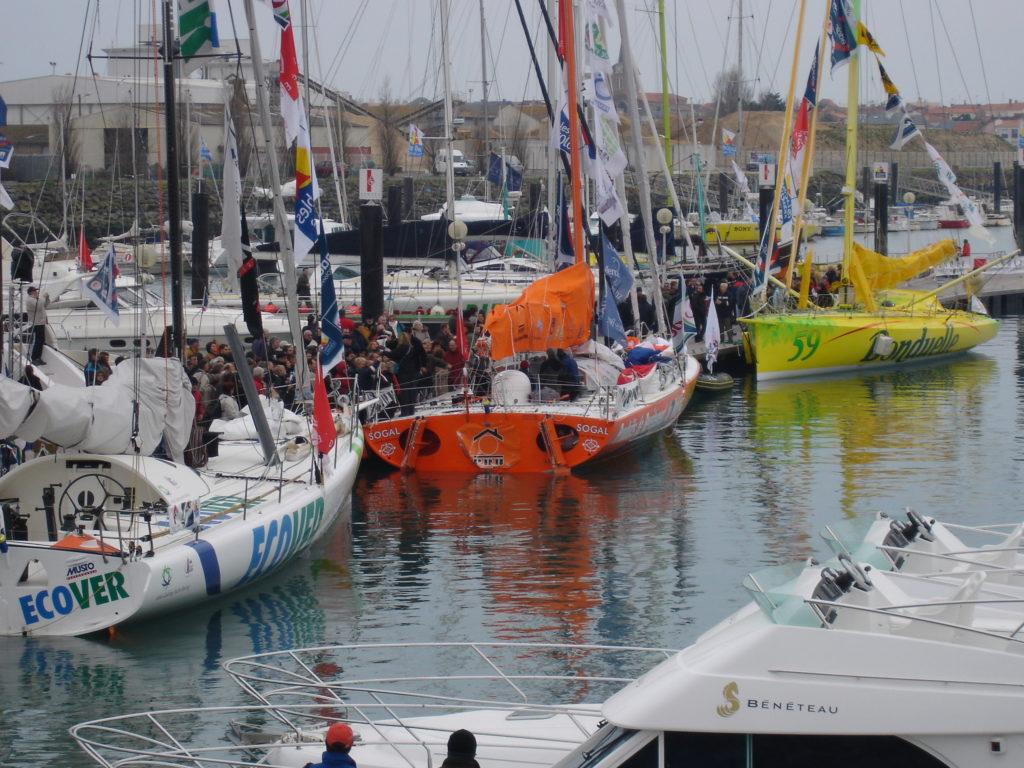 Les pontons du Vendée Globe