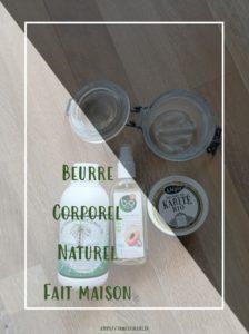 Tuto beurre corporel naturel