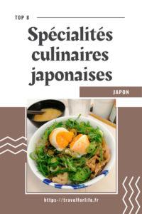 Spécialités culinaires japonaises