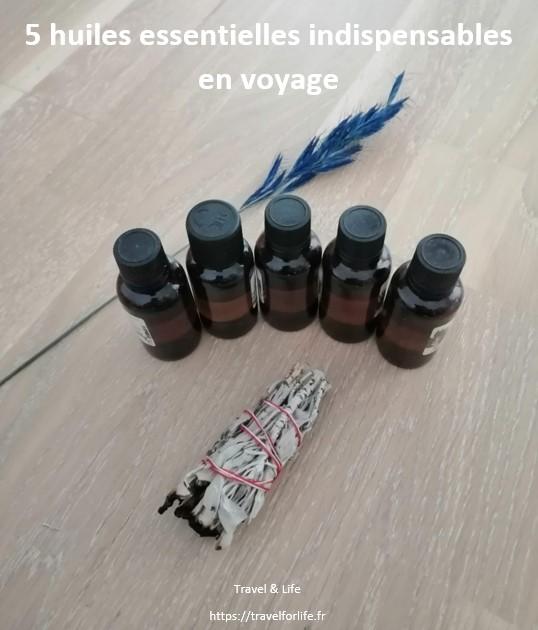 5 huiles essentielles indispensables en voyage